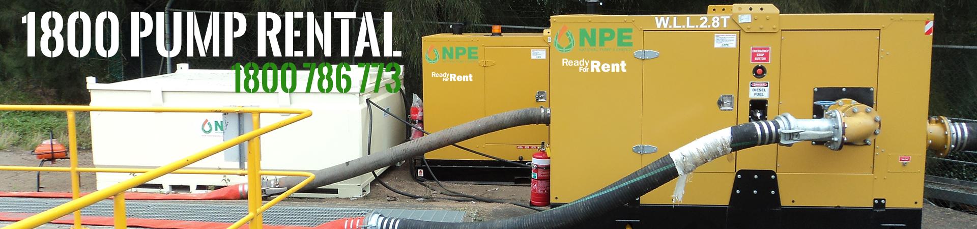 Pump, Generator & Compressor Hire | National Pump & Energy