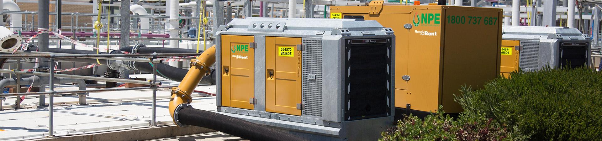 Pump, Generator & Compressor Hire   National Pump & Energy