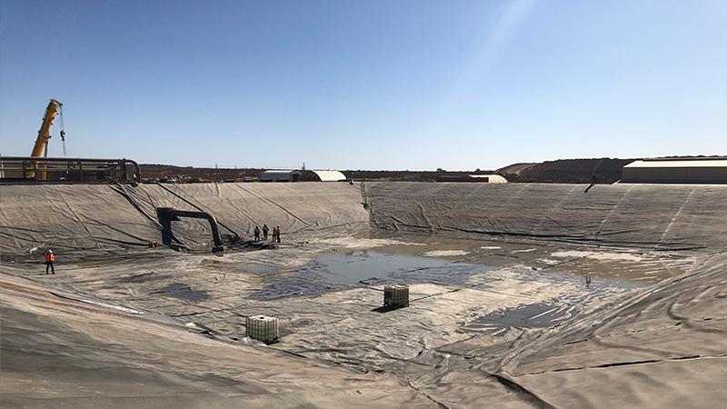 Complete dam clean - empty dam.