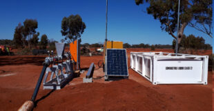 Complete borehole pumping package in remote Kalgoorlie location.