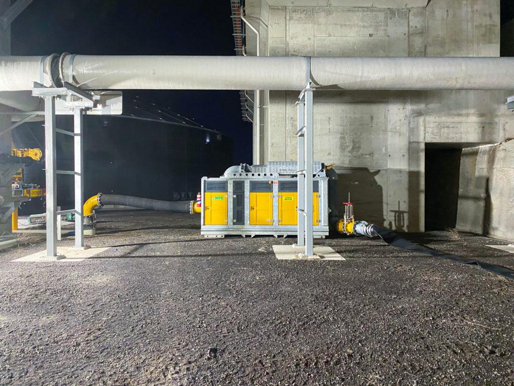 Clean emergency pump bypass installation