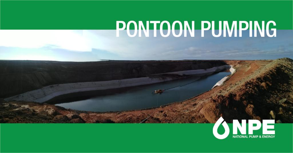Pontoon pumping