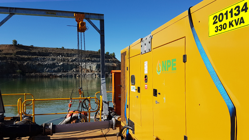 Drilling and pumping pontoon