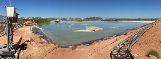 NPE clears process pond ahead of schedule