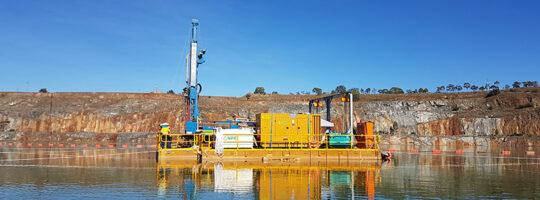 Drilling and pumping pontoon solution
