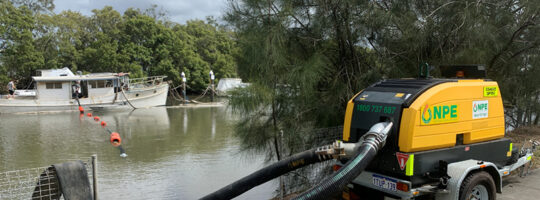 Salvage mission success with NPE dewatering services