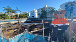 Richard from NPE at the construction site on the Sunshine Coast, Queensland.