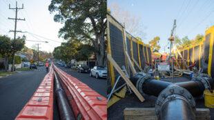 Street views of bypass install.