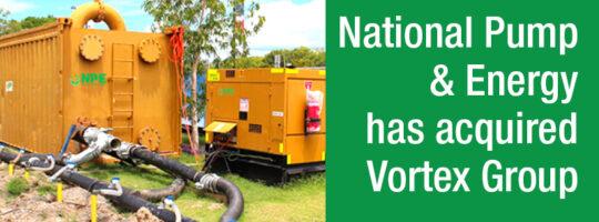 National Pump & Energy acquires Vortex Group